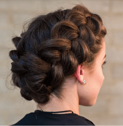 Regal Tied Up Crown Braid