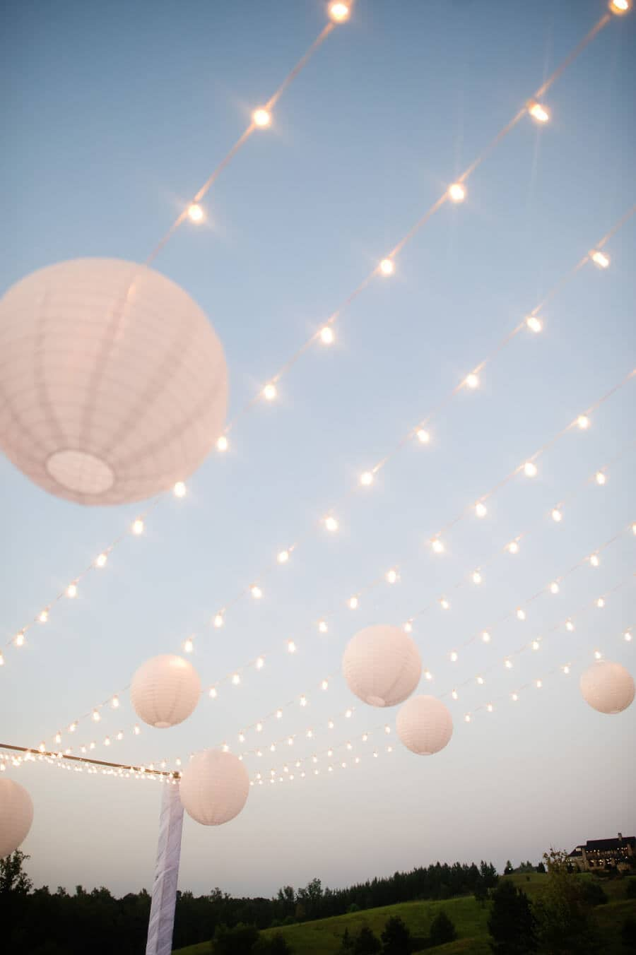 Paper Lanterns and Lights Arbor