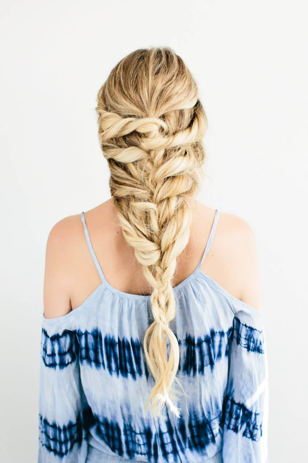Multi-Layer Crossed Fishtail Braid