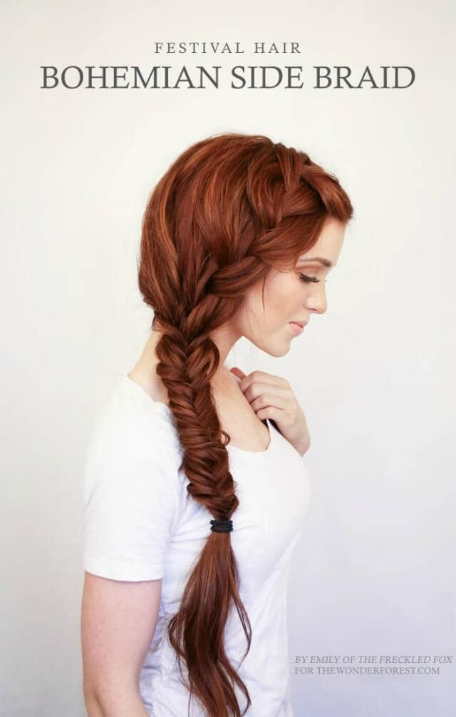 Bohemian Style Festive Side Braid