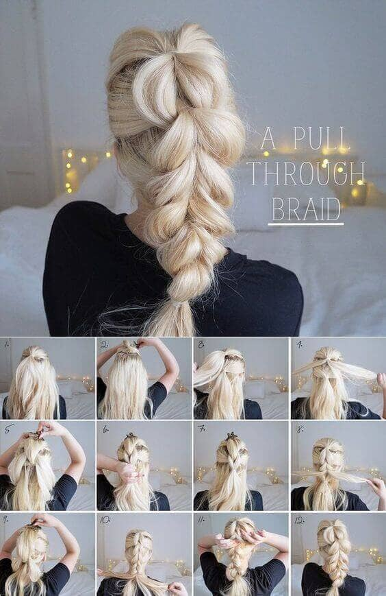 Loose Pull-through Braid Up-do