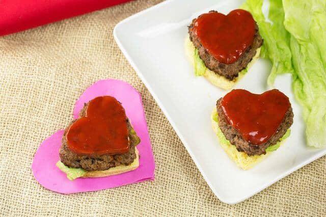 Transform a Classic Hamburger into Hearts