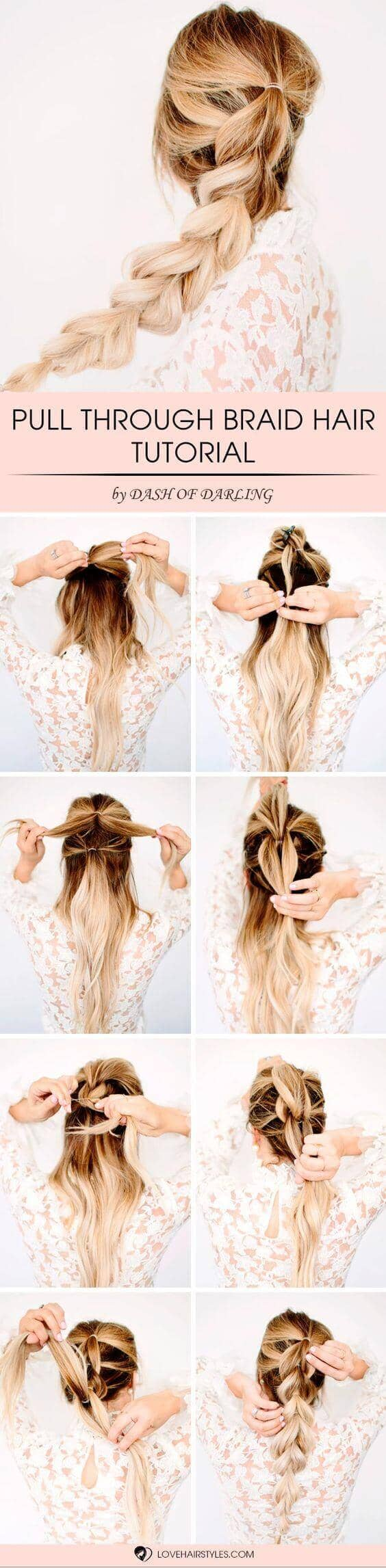 Long, Beachy Pull-through Braid