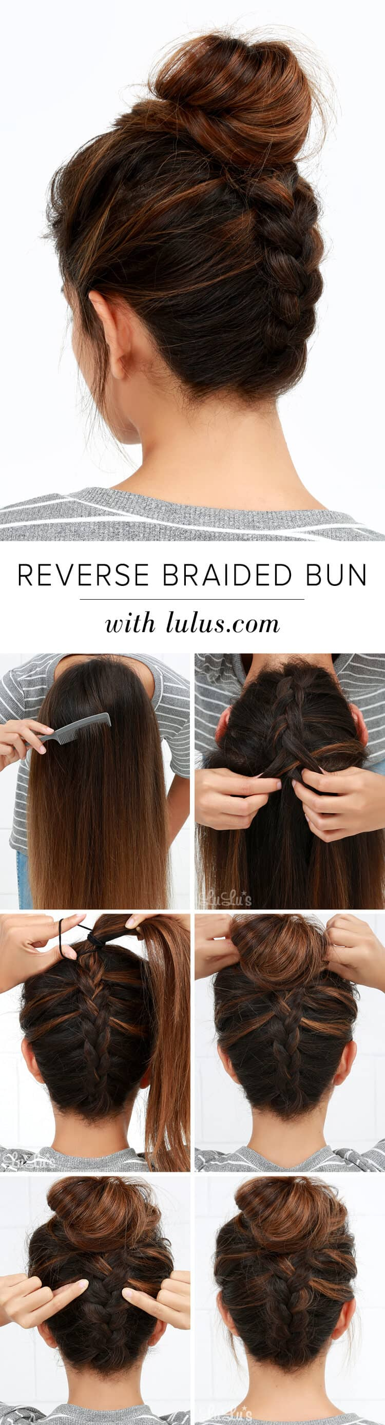 Reverse Normal Braided Bun Updo