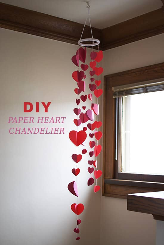 Hand-Made Paper Heart Valentine's Day Decoration Ideas