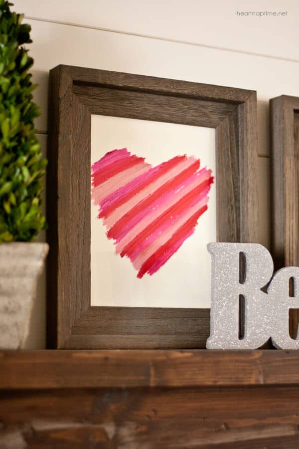 Abstract Multi-colored Heart Picture Frame Decal