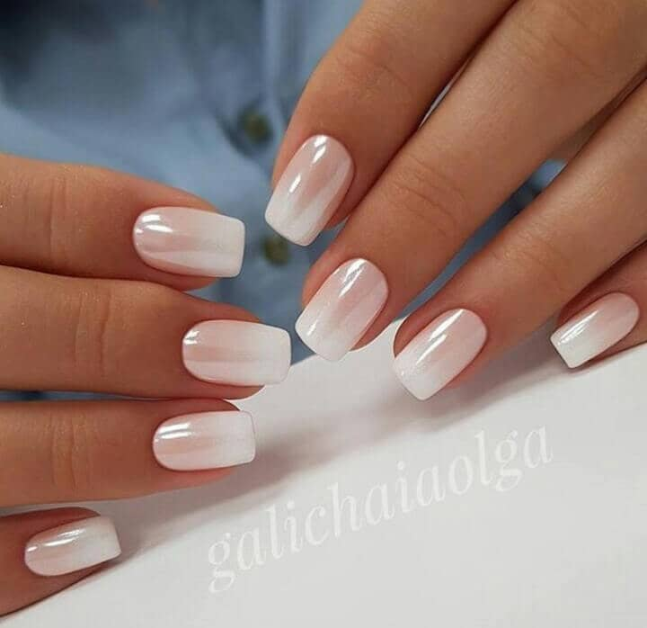 Pearlescent American Manicure