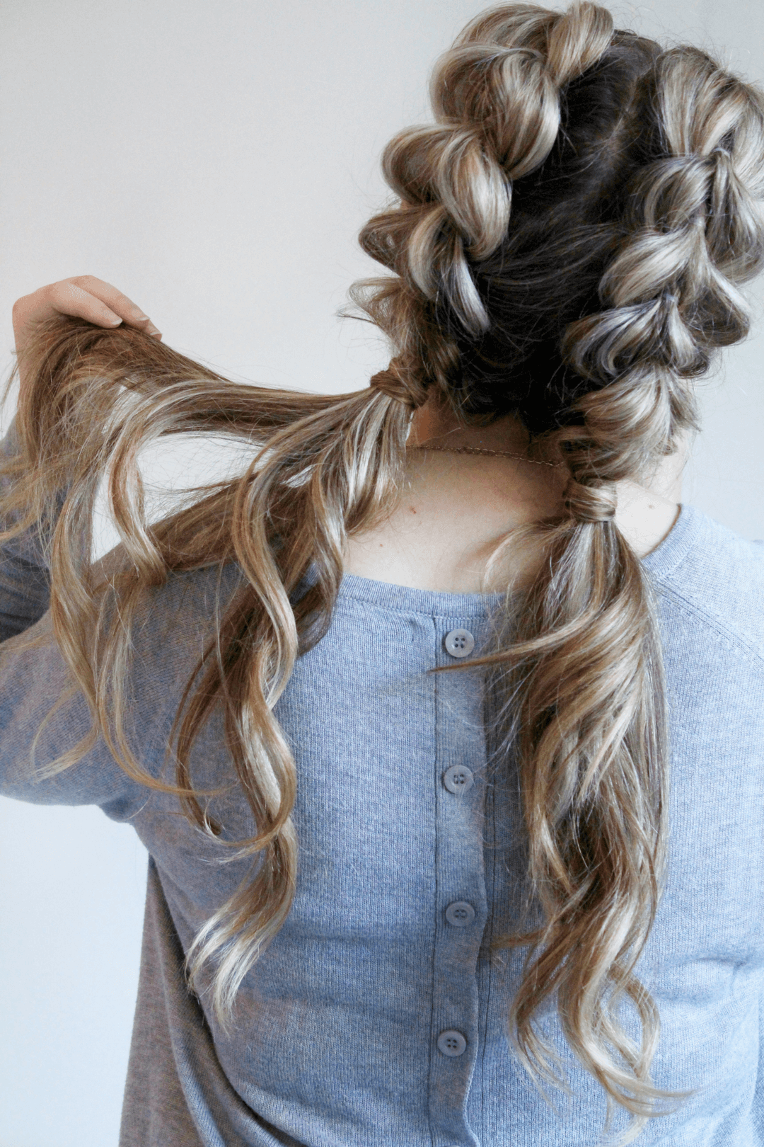 Loose Half Side Pony Braids