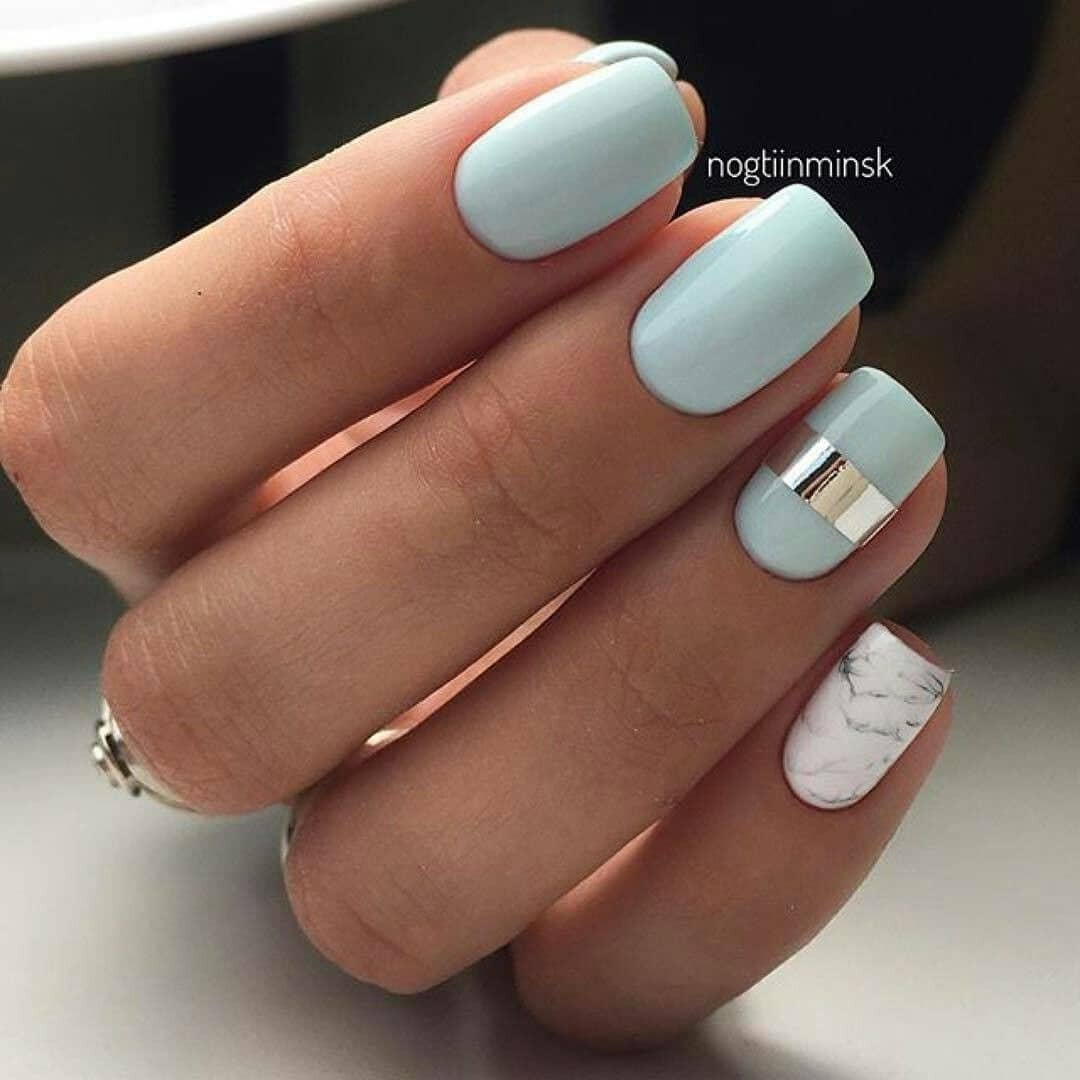 Baby Blue Matte with Silver Accent