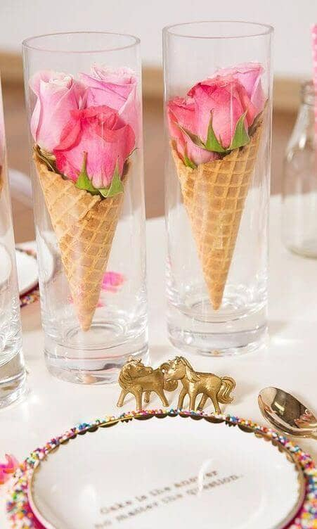 Rose-Flavored Ice Cream Cones
