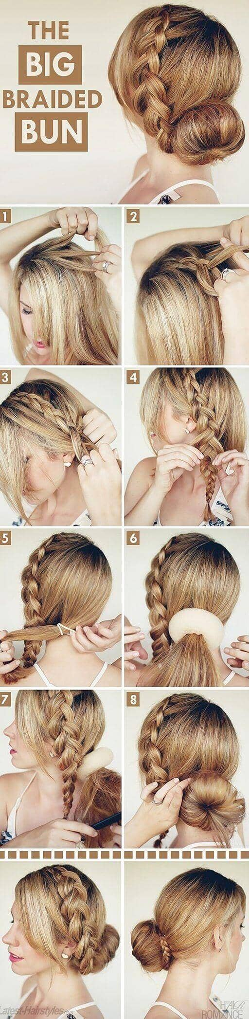 Sock Bun With Side Braid