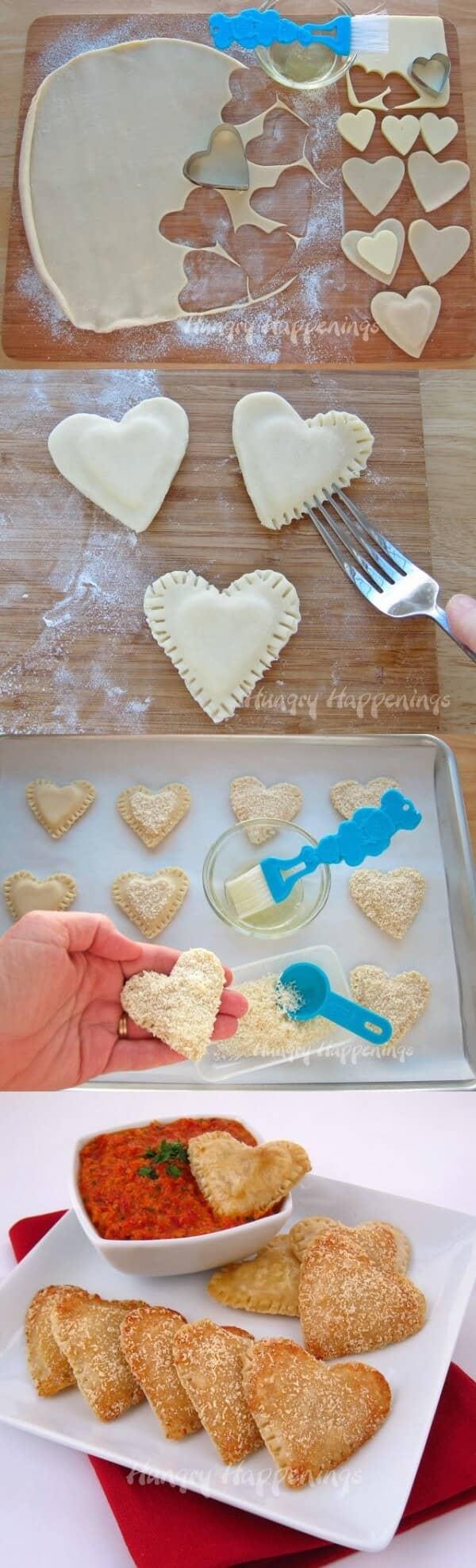 Mozzarella Hearts to Dip in Love
