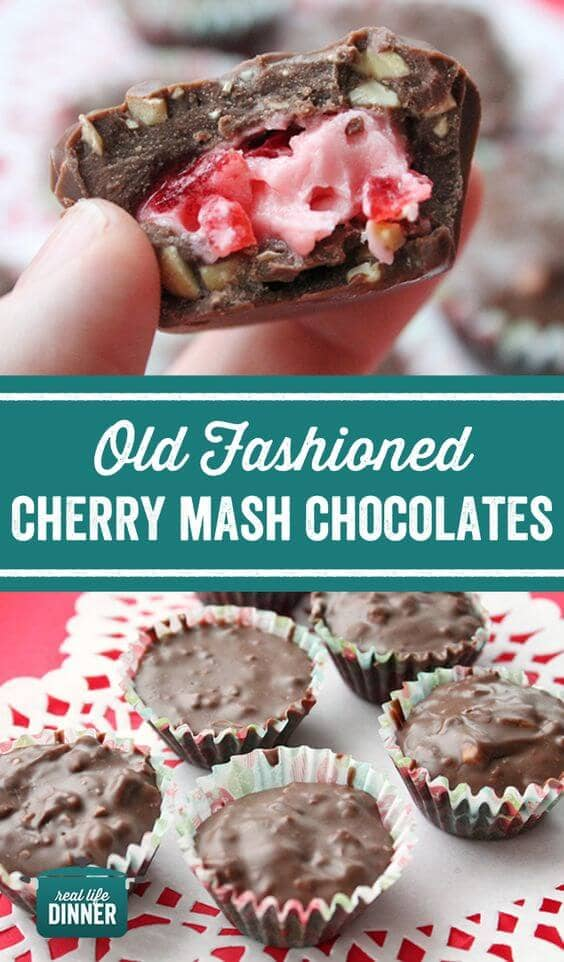 Valentine's day candy ideas with Cherry Filling