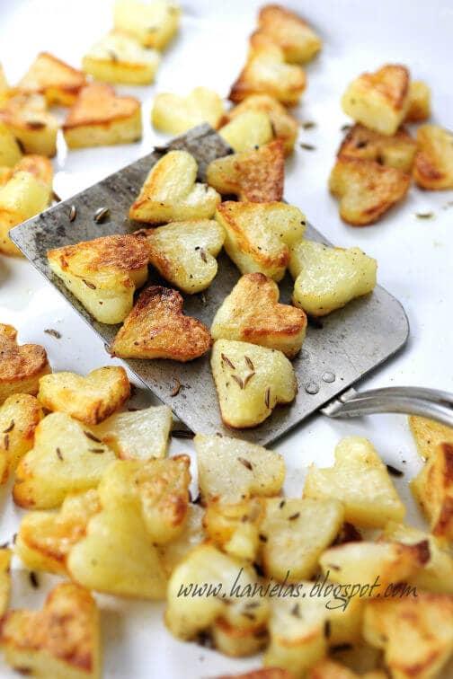 Heart-shape Potato Snacks