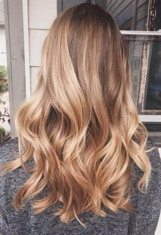 Honey Blonde Shoulder Length Curls