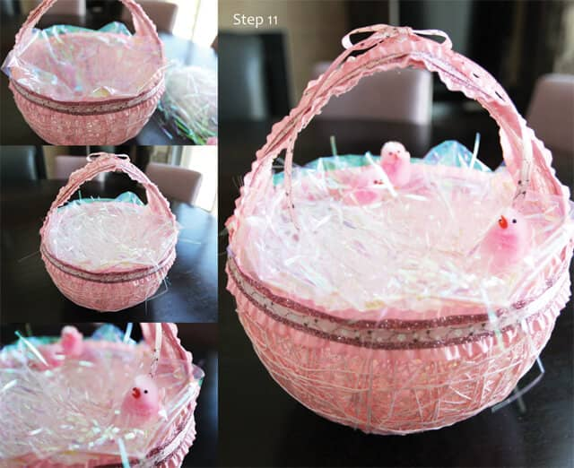 Delicate Pink Basket for Little Girls