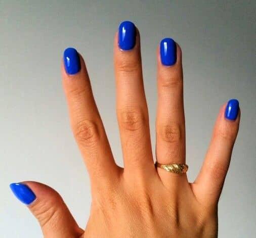 Cobalt Blue Squoval Shellac Manicure