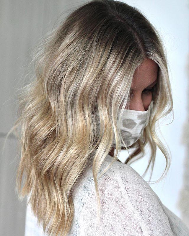 Dark Rooted Blonde Silver Hair