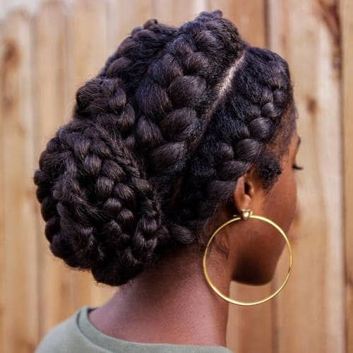 Easy Braided Low Bun for Any Occasion