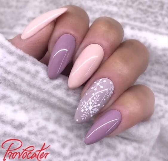 Lovely Pastel Pink and Purple with Snowflakes