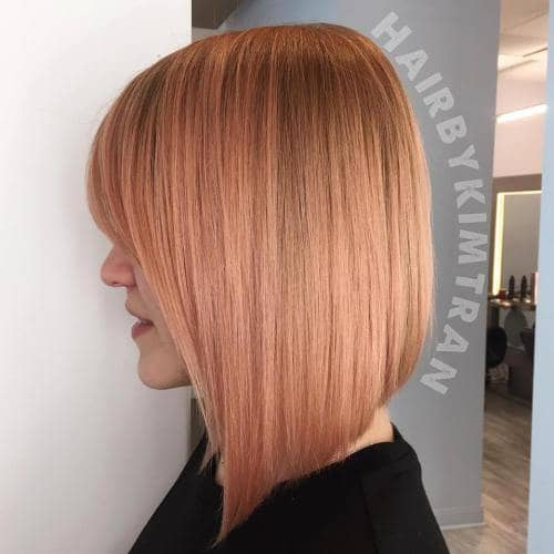 Edgy Chic Strawberry Blonde Bob