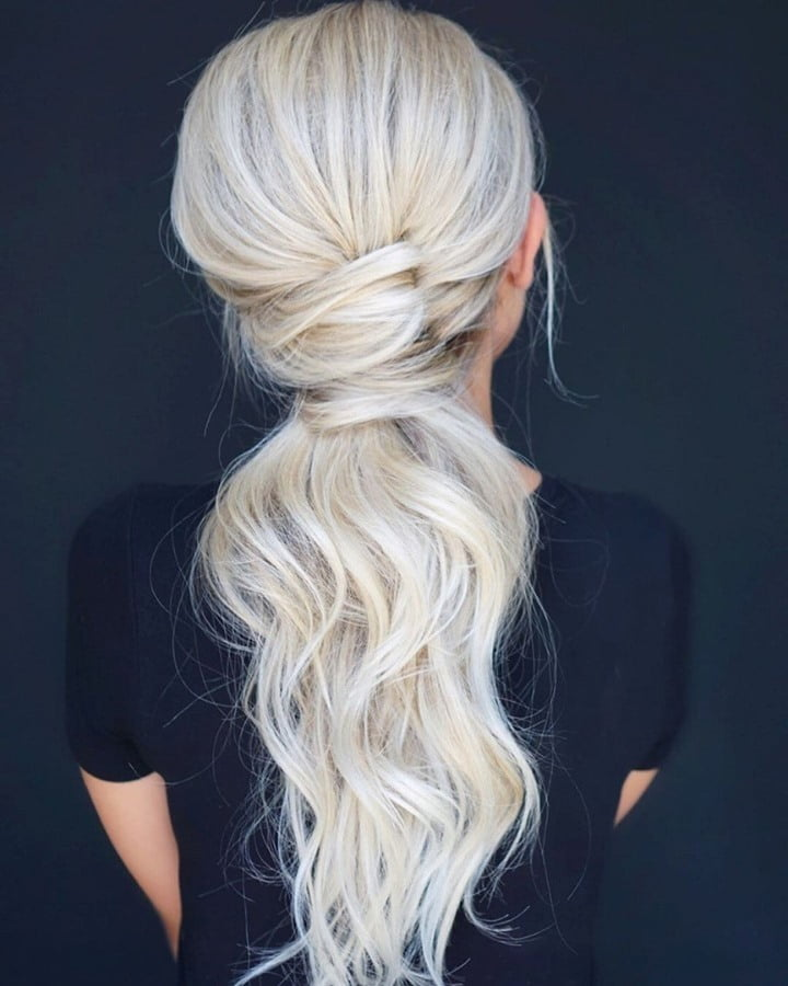 Hair Curls Rubber Band Look Hairstyle