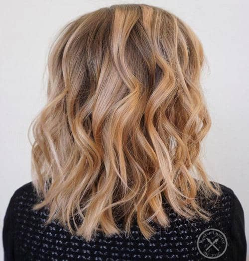 Brown, Blonde, and Strawberry Balayage
