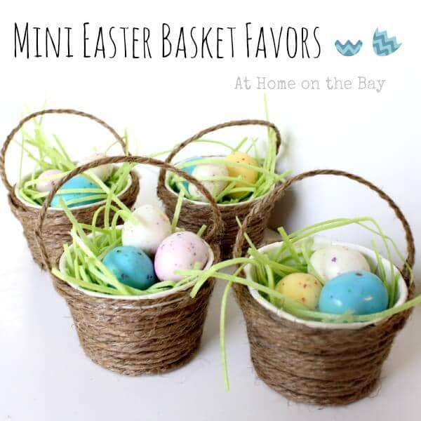 DIY Easter Basket Idea with Twine