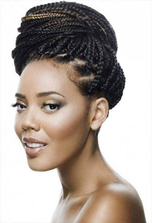 Small Braids for a Modest Up do