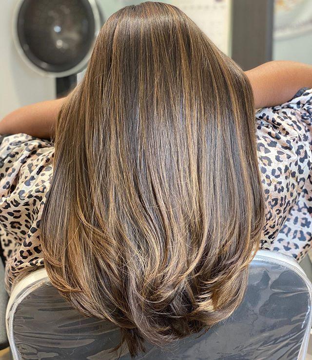 Caramel and Nutmeg Colored Hair