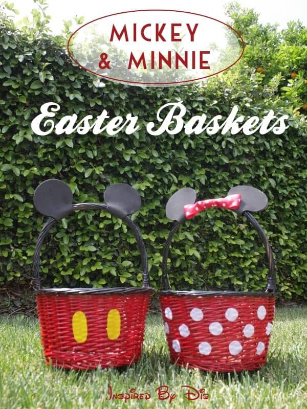 Mickey and Minnie Style Baskets