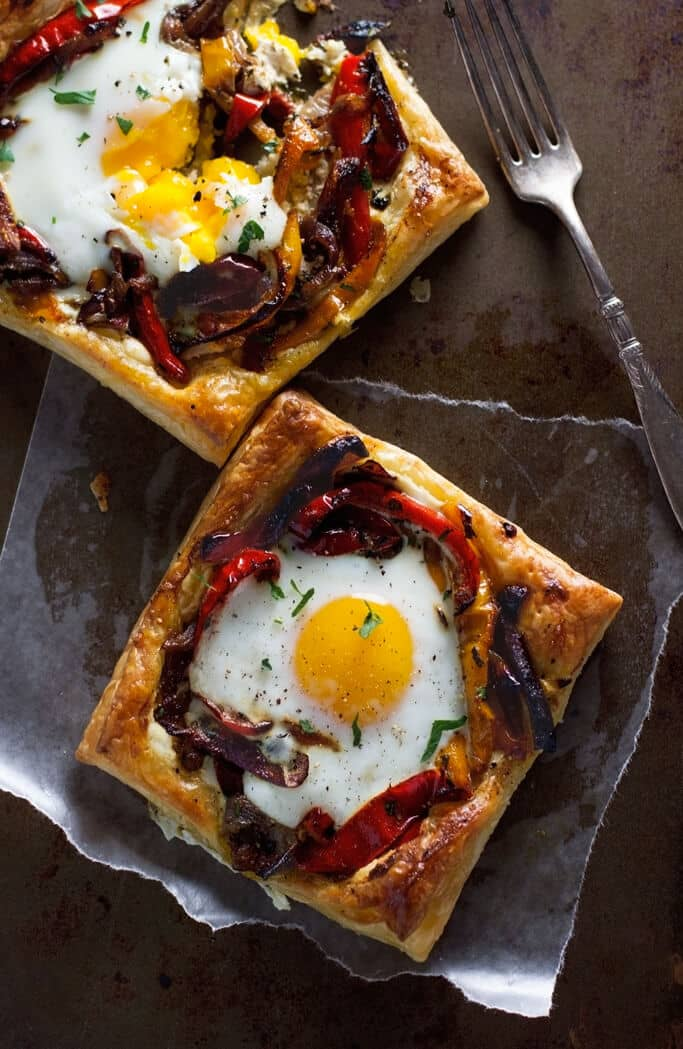 Individual Puff Pastry Tarts with Egg