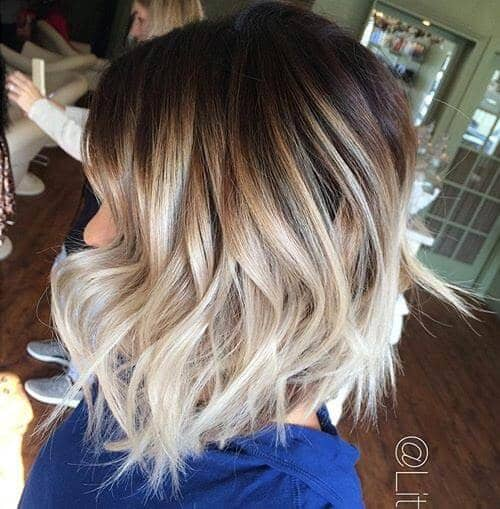 Bold Ombre Balayage Textured Hairstyle