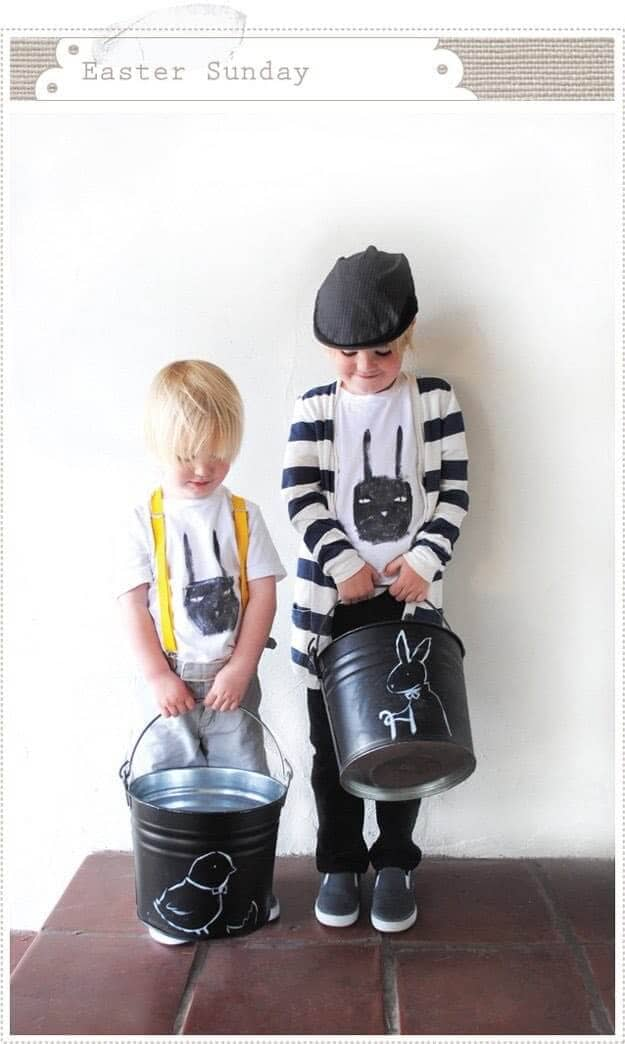 DIY Easter Baskets with Chalkboard Paint