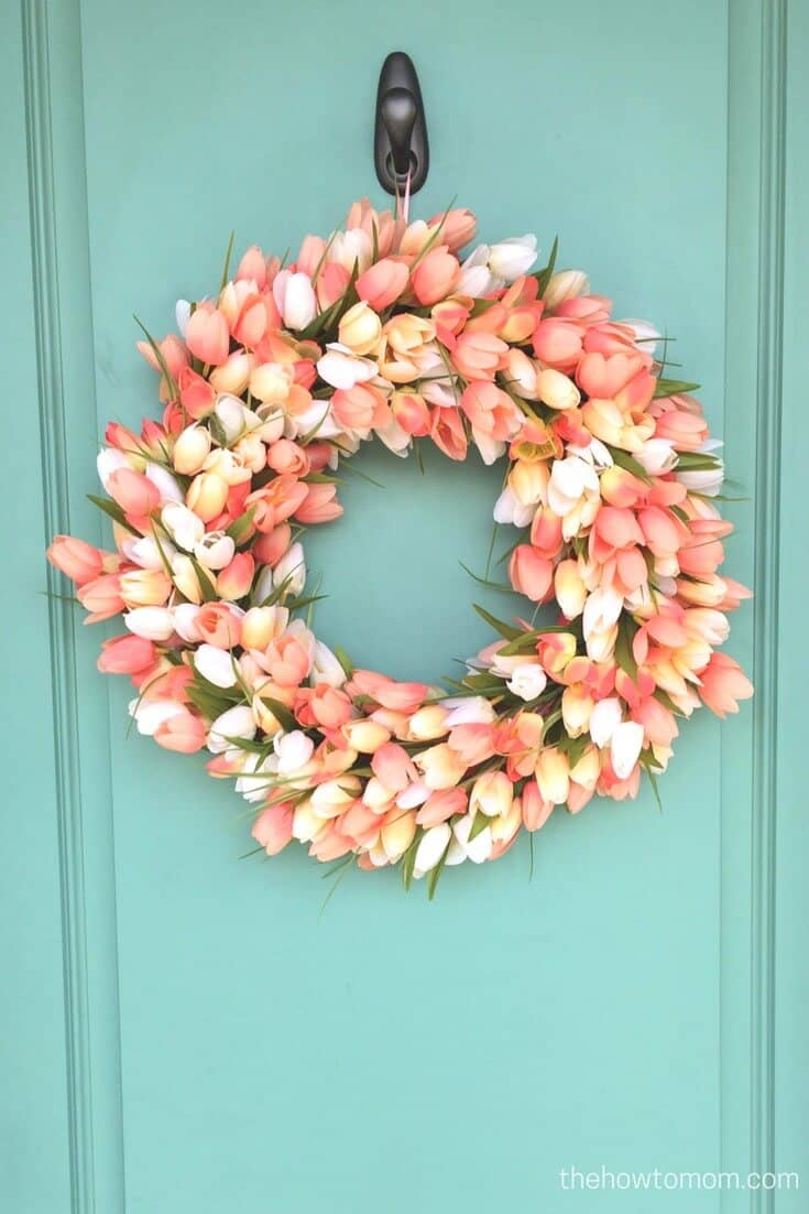 Wreath of Rosen, Blushing Tulips