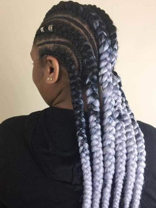 Alternating Big Braids for Cool Cornrows