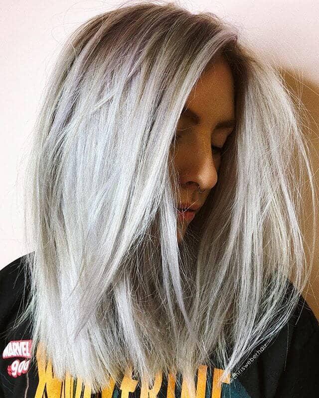 Ash Blonde with Silver Undertones