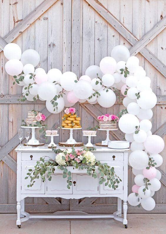 Creative Cake Stand and Balloon Display