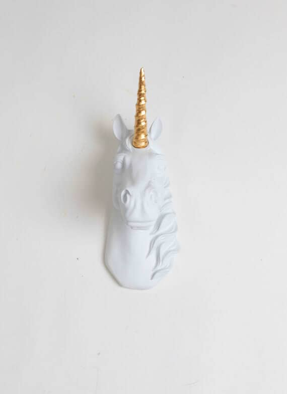 Mini Unicorn Head Wall Sculpture