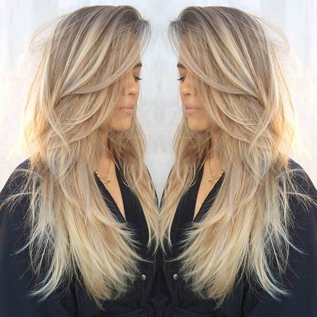 Modern Hairstyle for Long Blonde Hair