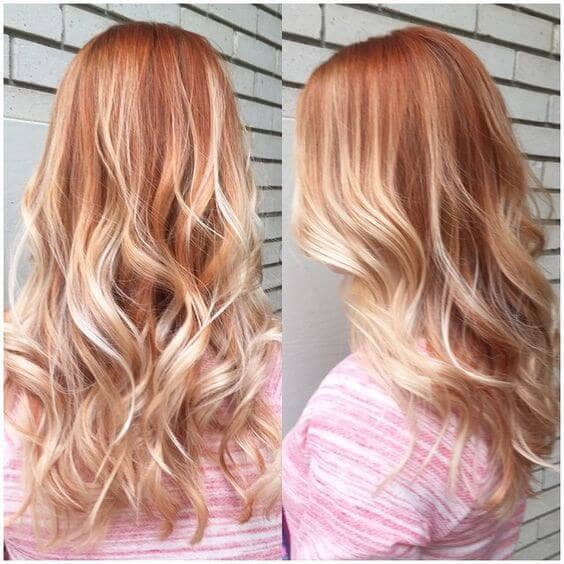 Bold and Beautiful Strawberry Blonde Ombre