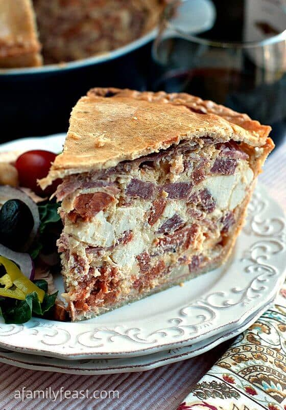 Ham and Egg Crusted Quiche