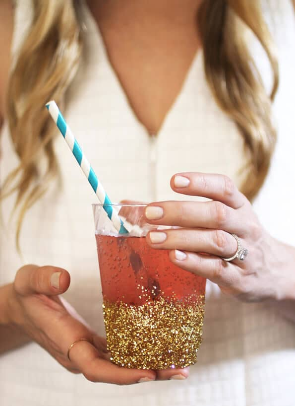 Glitzy Engagement Party Sips