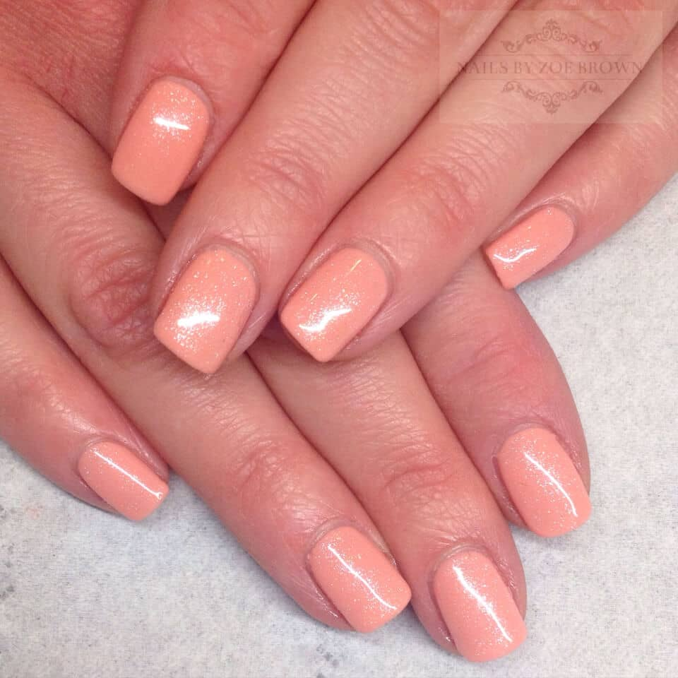 Pretty in Peach Shimmery Polish