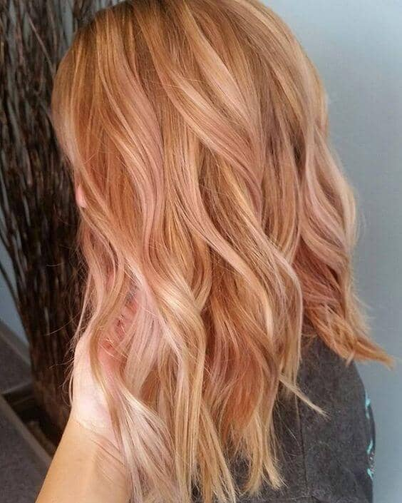 Beautiful Dusty Strawberry Blonde Waves