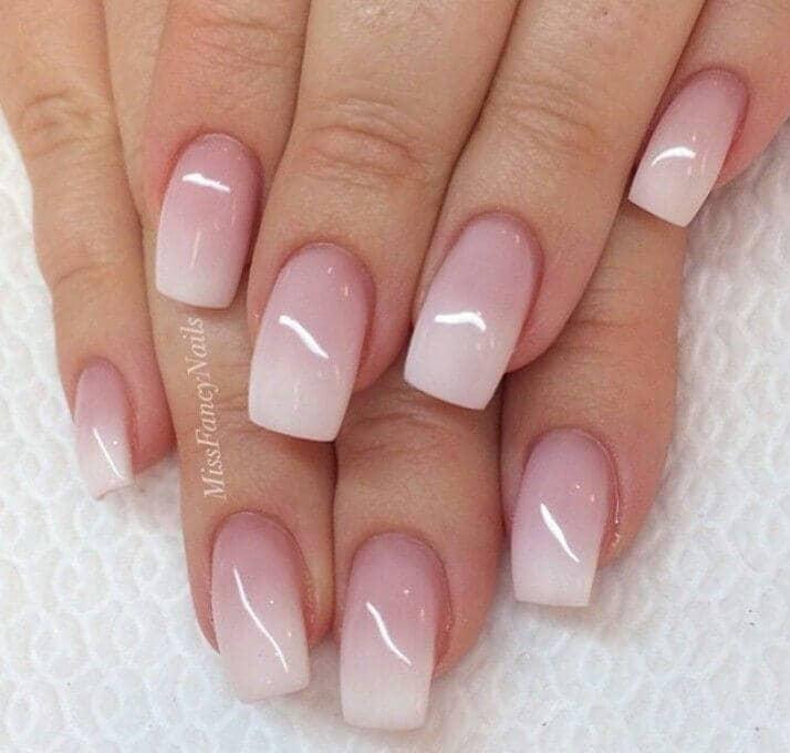 Classy Baby Boomer Nails