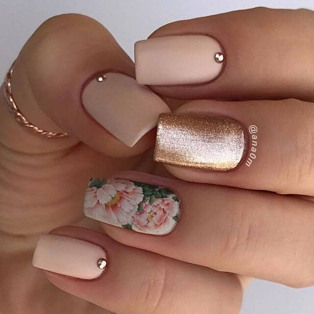 Pink Peony Designer Nails Design