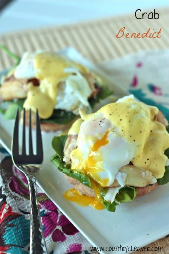 Indulgent Crab Benedicts for Easter
