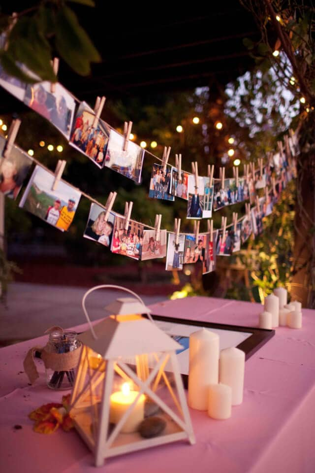 Rustic Clothespin Photo Display Idea