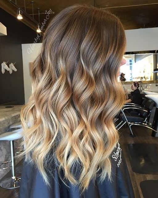 Golden Sunshine Gradual Bayalage Hairstyle Idea